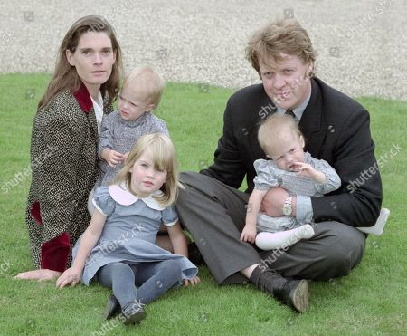 Earl Spencer, Earl Spencer, pictured with his first wife Victoria Aitken and their three children Kitty; Eliza and Amelia