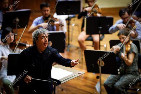 Editorial picture of Conductor Semyon Bychkov during rehearsal, San Sebastian, Spain - 06 Aug 2020