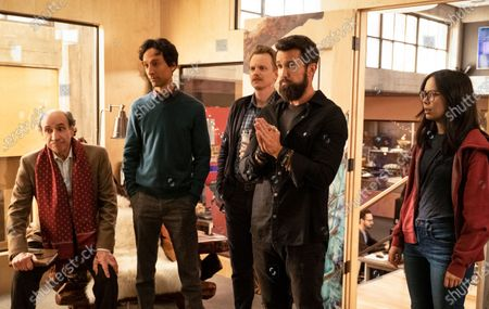 F. Murray Abraham as C.W. Longbottom, Danny Pudi as Brad, David Hornsby as David, Rob McElhenney as Ian and Charlotte Nicdao as Poppy