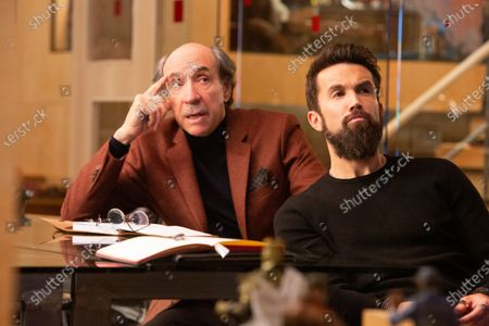 Stock Picture of F. Murray Abraham as C.W. Longbottom and Rob McElhenney as Ian