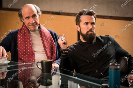 Stock Photo of F. Murray Abraham as C.W. Longbottom and Rob McElhenney as Ian