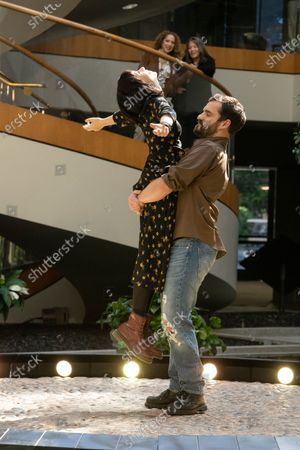 Cristin Milioti as Bean and Jake Johnson as Doc Michael
