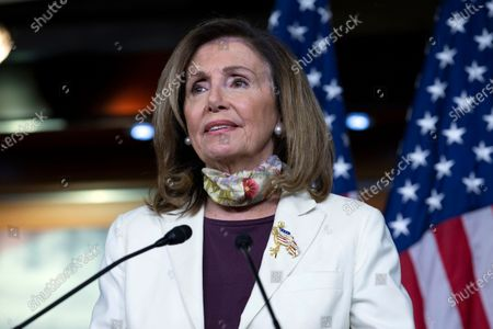 House Speaker Nancy Pelosi of Calif., speaks during a news conference on Capitol Hill in Washington