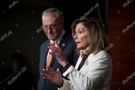 Editorial image of Pelosi and  Schumer Coronavirus relief press conference, Washington DC, USA - 08 Aug 2020