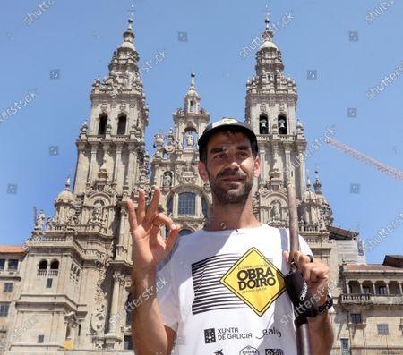 Editorial image of Jose Manuel Calderon takes part in St. James' Way, Santiago De Compostela, Spain - 06 Aug 2020