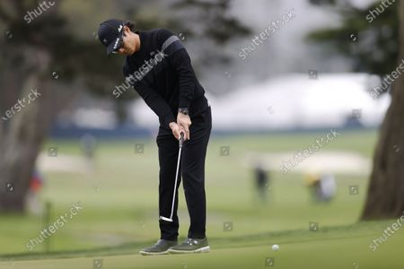 Ryo Ishikawa of Japan chips on the second hole during the first round for the 2020 PGA Championship golf tournament at TPC Harding Park in San Francisco, California, USA, 06 August 2020. The competition will be played 06 August through 09 August with no fans in attendance.