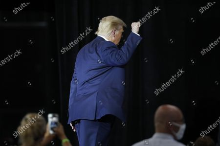 US President Donald J. Trump departs after speaking at the Whirlpool Corporation Manufacturing Plant in Clyde, Ohio, USA, 06 August 2020. Ohio Governor DeWine on 06 August 2020 announced he was tested positive for coronavirus, shortly before he was scheduled to meet US President Trump.