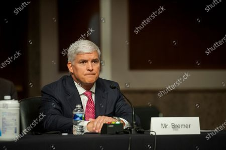 Stock Image of Louis W. Bremer, of Connecticut appears before a Senate Committee on Armed Services hearing to examine his nomination to be Assistant Secretary, Department of Defense, in the Dirksen Senate Office Building on Capitol Hill in Washington, DC.,.