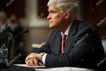 Louis W. Bremer, of Connecticut appears before a Senate Committee on Armed Services hearing to examine his nomination to be Assistant Secretary, Department of Defense, in the Dirksen Senate Office Building on Capitol Hill in Washington, DC.,.