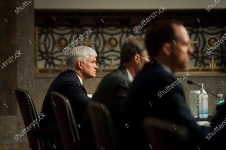 Louis W. Bremer, of Connecticut appears before a US Senate Committee on Armed Services hearing to examine his nomination to be Assistant Secretary, Department of Defense, in the Dirksen Senate Office Building on Capitol Hill in Washington, DC.,.