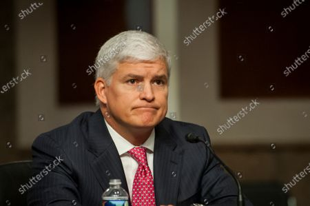 Louis W. Bremer, of Connecticut appears before a Senate Committee on Armed Services hearing to examine his nomination to be Assistant Secretary, Department of Defense, in the Dirksen Senate Office Building on Capitol Hill in Washington, DC.,. Credit: Rod Lamkey / CNP