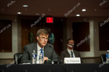 Lucas N. Polakowski, of Virginia, appears before a Senate Committee on Armed Services hearing to examine his nomination to be Assistant Secretary, Department of Defense, in the Dirksen Senate Office Building on Capitol Hill in Washington, DC.,.