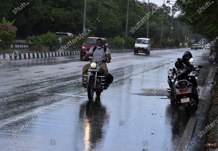Editorial picture of Cloudy Weather In Delhi NCR, New Delhi, India - 06 Aug 2020
