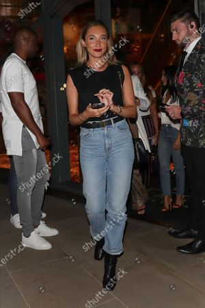 Megan McKenna leaving the Ivy Asia St Paul's after celebrating a friends birthday