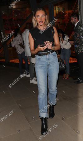 Editorial photo of Megan McKenna out and about, London, UK - 06 Aug 2020