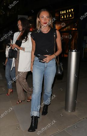 Stock Image of Megan McKenna leaving the Ivy Asia St Paul's after celebrating a friends birthday