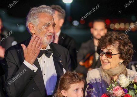 Placido Domingo, wife Marta Domingo