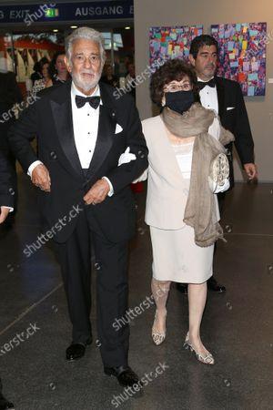 Placido Domingo and wife Marta Domingo