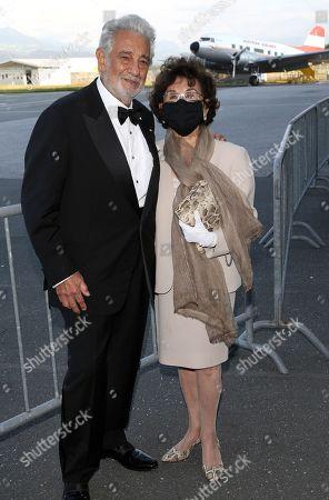 Stock Image of Placido Domingo and wife Marta Domingo