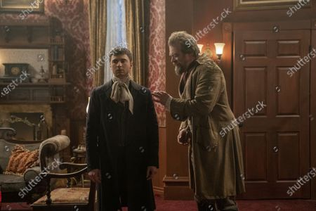 Stock Photo of Alex Ozerov as Joey Vallejo/Sal and David Harbour as David Harbour III/David Harbour Jr/Frankenstein