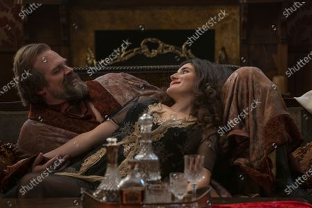 David Harbour as David Harbour III/David Harbour Jr/Frankenstein and Kate Berlant as Monica Fulton/Miss Machbeth