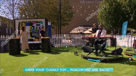 Stock Picture of Rochelle Humes, Dermot O'Leary and Andrew Roachford