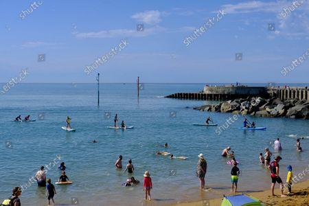 Editorial photo of Seasonal Weather, West Bay, UK - 07 Aug 2020