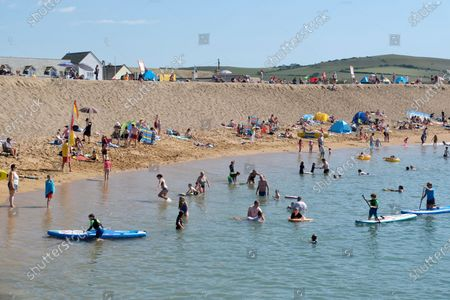 Editorial picture of Seasonal Weather, West Bay, UK - 07 Aug 2020