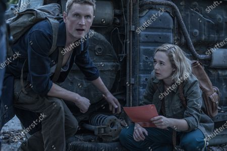 Stock Image of Mikkel Boe Folsgaard as Martin and Alba August as Simone Andersen