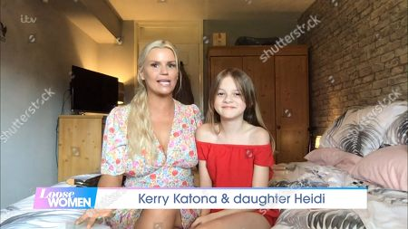 Kerry Katona and Daughter Heidi Croft