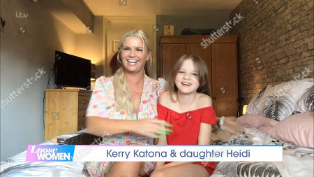 Stock Image of Kerry Katona and Daughter Heidi Croft