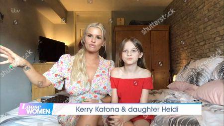 Stock Photo of Kerry Katona and Daughter Heidi Croft