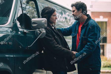 Kathryn Hahn as Dessa Constantine and Mark Ruffalo as Dominick Birdsey/Thomas Birdsey