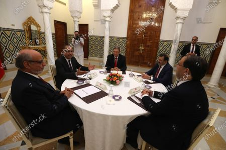 Editorial photo of Consultations as part of the formation of the next government, Tunis, Tunisia - 07 Aug 2020