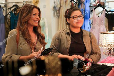 Stock Image of Lisa Vidal as Mari Garcia and Belissa Escobedo as Natalie Garcia