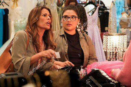 Stock Picture of Lisa Vidal as Mari Garcia and Belissa Escobedo as Natalie Garcia