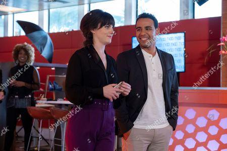 Georgina Reilly as Piper and Victor Rasuk as Daniel Garcia