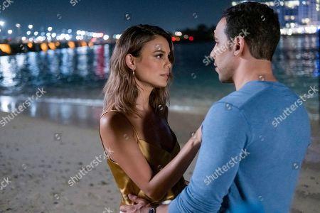 Nathalie Kelley as Noa Hamilton and Victor Rasuk as Daniel Garcia
