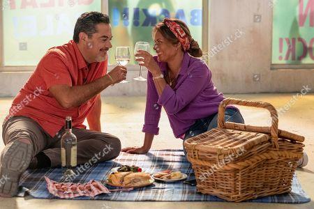 Stock Photo of Carlos Gomez as Rafael Garcia and Lisa Vidal as Mari Garcia