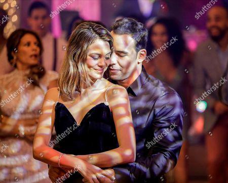 Stock Photo of Nathalie Kelley as Noa Hamilton and Victor Rasuk as Daniel Garcia