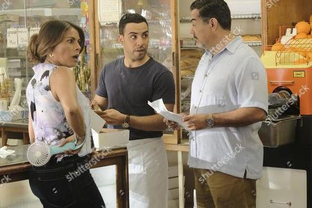 Lisa Vidal as Mari Garcia, Victor Rasuk as Daniel Garcia and Carlos Gomez as Rafael Garcia