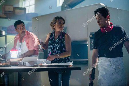Carlos Gomez as Rafael Garcia, Lisa Vidal as Mari Garcia and David Del Rio as Mateo Garcia