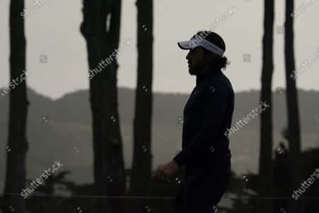 Mike Lorenzo-Vera, of France, walks on the seventh hole during the second round of the PGA Championship golf tournament at TPC Harding Park, in San Francisco