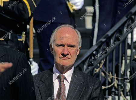 In this file photo, National Security Advisor Brent Scowcroft attends the departure ceremony for President Vaclav Havel of Czechoslovakia at the White House in Washington, DC.