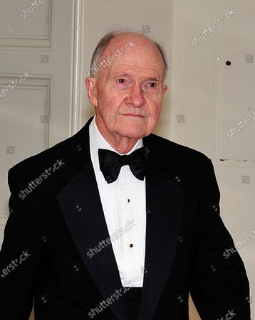 In this file photo, Former National Security Advisor Brent Scowcroft arrives for the State Dinner in honor of President Hu Jintao of China at the White House In Washington, D.C.. .