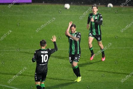 Western United defender Josh Risdon (19) celebrates his goal