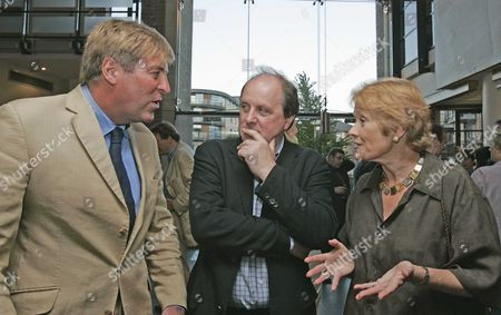 Writer James Naughtie (middle) 'accidental American' Written By James Naughtie With Edward Stourton (beige Suit) And Sue Macgregor - Radio Presenters.