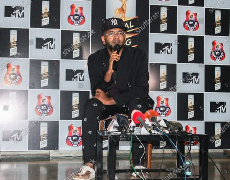 Stock Photo of Famous Indian singer Benny Dayal addressed a press meet regarding Royal Stag Barrel Select MTV Unplugged.
