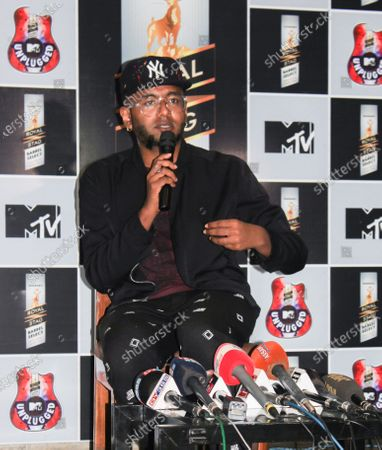Editorial picture of Indian singer Benny Dayal addressed a press, Guwahati, Assam, India - 25 Mar 2018