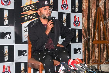 Famous Indian singer Benny Dayal addressed a press meet regarding Royal Stag Barrel Select MTV Unplugged.
